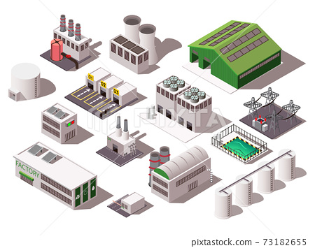 Factory Isometric Set 73182655