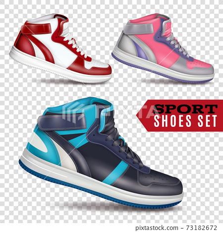 Color Sport Shoes On Transparent Background 73182672