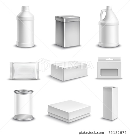 Product Package Realistic Icons Set 73182675
