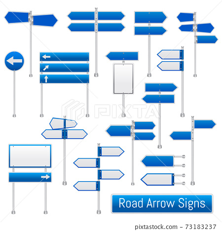 Road Arrow Signs Realistic Set 73183237
