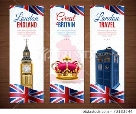 London Vertical Banners Collection 73183244