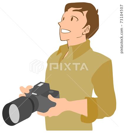 男攝影師與單鏡頭反光照相機 73184507