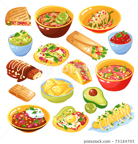 Mexican Food Set 73184705