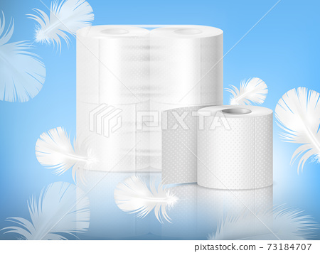 Toilet Paper Realistic Composition 73184707