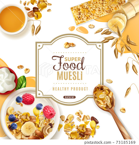 Muesli Food Frame Composition 73185169