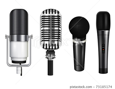 Professional Microphones Realistic Set 73185174
