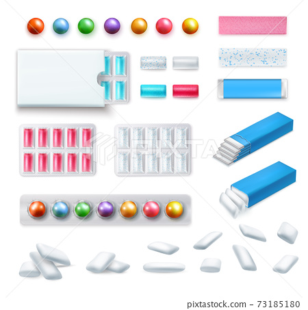 Realistic Chewing Gum Set 73185180