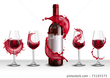Wine Glasses Splash Set 73185575