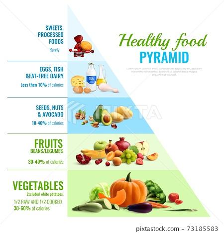 Healthy Food Pyramid Infographics 73185583