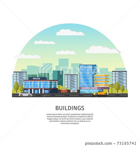 Modern Cityscape Template 73185741