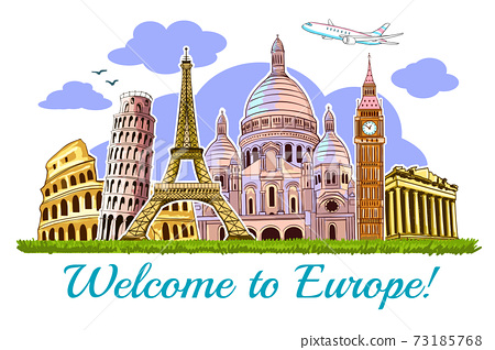 Europe Buildings Travel Poster 73185768