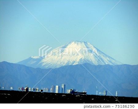 橫跨東京灣的富士山 73186230