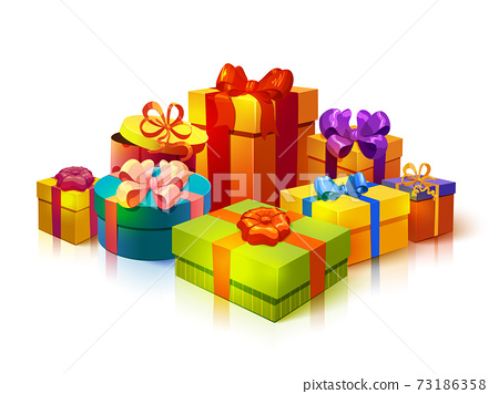 Gift Boxes Pile Composition 73186358