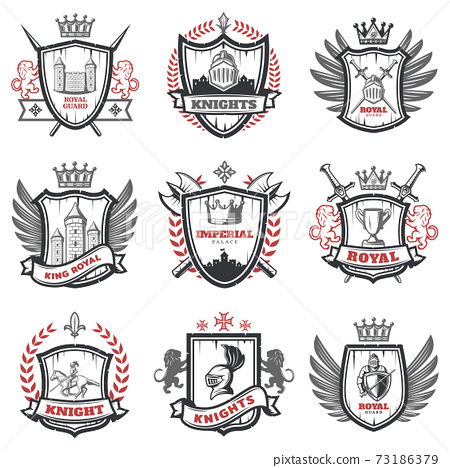 Medieval Knight Coats Of Arms Set 73186379