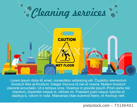 Flat Cleaning Service Template 73186401