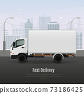 Cargo Vehicle Realistic Composition 73186425