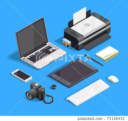 Graphic Design Set 73186432