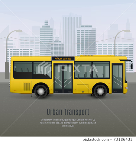 Realistic City Bus Illustration 73186433