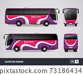 Touristic Bus Template In Realistic Style 73186434
