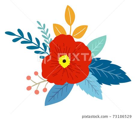 꽃과 잎의 장식 73186529