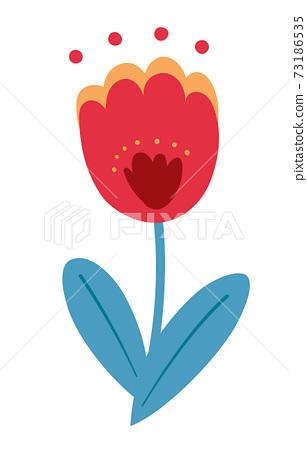 봄의 꽃 튤립의 일러스트 73186535
