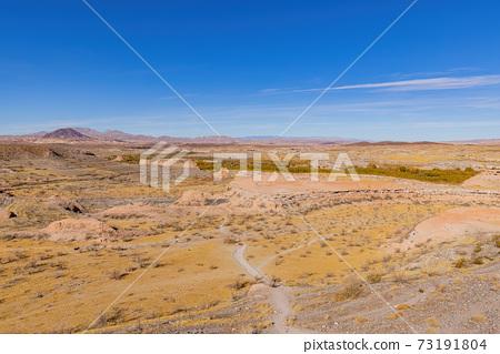 Beautiful landscape along the famous White Owl Canyon trail 73191804