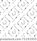 Doodle arrows seamless pattern 73191935