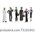 Arabic business team,cartoon business people 73191941