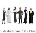 Arabic business team,cartoon business people 73191942