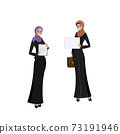 Two beauty Arabic business women in different poses 73191946