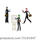 Arab business women in different activities 73191947
