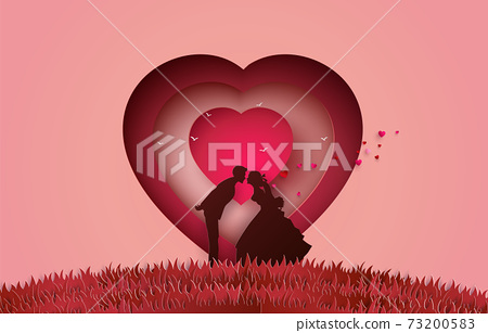 Illustration of love and valentine's Day, 73200583