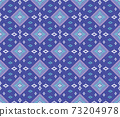 Embroidered ethnic seamless pattern. tribal motifs. Vector illustration. 73204978