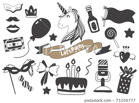 Party illustration Vector for banner 73208777