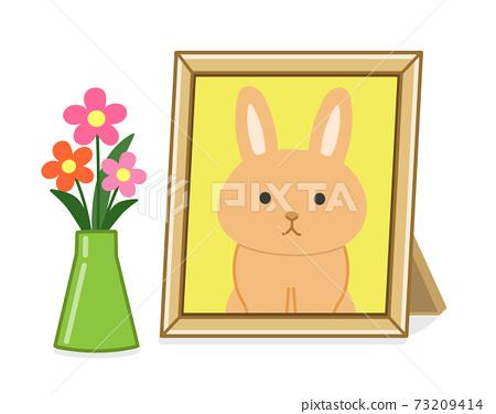 寵物遺骸的照片架子(兔子)插圖 73209414