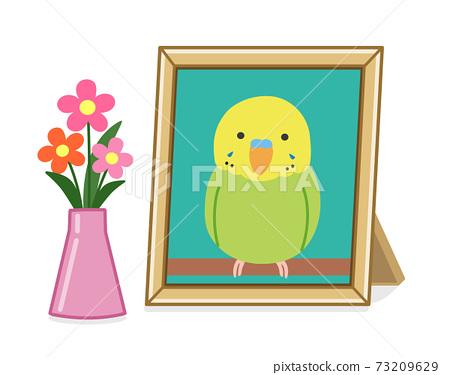 寵物遺體的照片展位(Inco)插圖 73209629