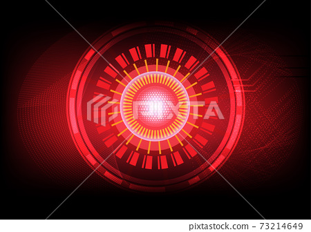 Abstract circle technology circuit board vector design 73214649