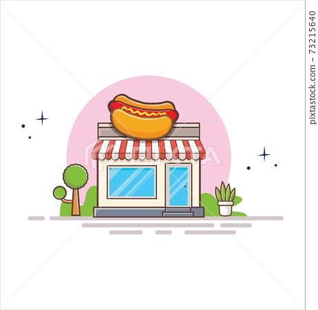 food, vector, shop 73215640