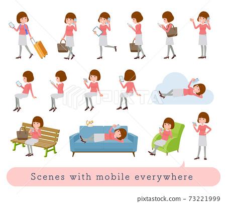 flat type Straight bangs women_Mobile-everywhere 73221999