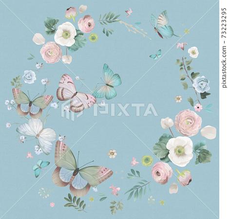 色彩豐富的花卉素材組合和設計元素 73223295