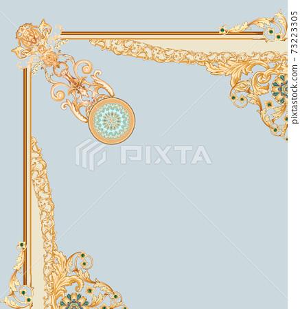화려한 꽃 소재 조합 및 디자인 요소 73223305