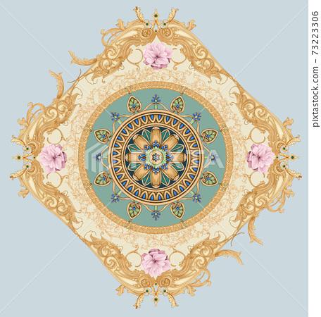 色彩豐富的花卉素材組合和設計元素 73223306