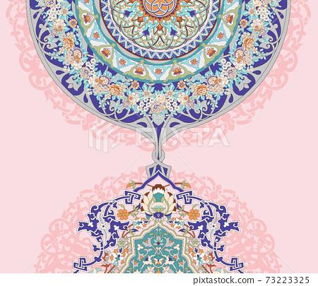 色彩豐富的花卉素材組合和設計元素 73223325