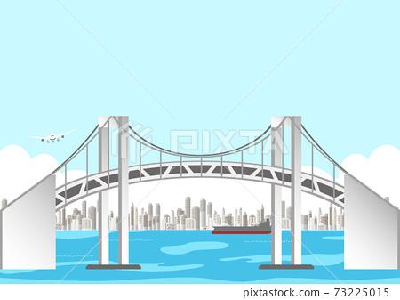橋和東京的風景 73225015