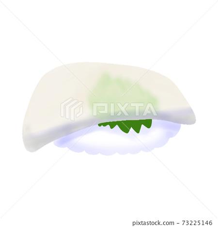 Squid nigiri sushi (without main line) 73225146