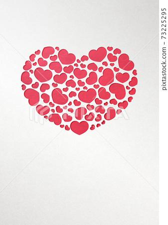 발렌타인 데이 종이 공예 인사말 카드 73225295