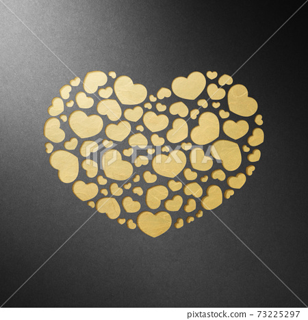 발렌타인 데이 종이 공예 인사말 카드 73225297