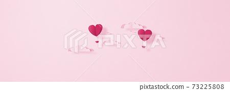 발렌타인 - 종이 접기 -3DCG- 하트 풍선 - 귀여운 세계관 [지공예] 73225808