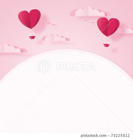 발렌타인 - 종이 접기 -3DCG- 하트 풍선 - 귀여운 세계관 [지공예] 73225812