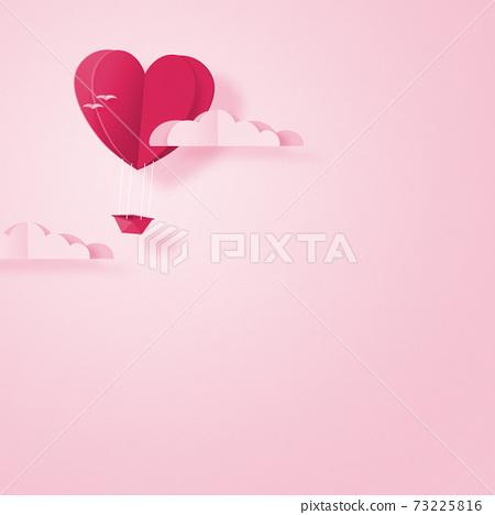 발렌타인 - 종이 접기 -3DCG- 하트 풍선 - 귀여운 세계관 [지공예] 73225816